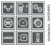 vector car icons. applique with ... | Shutterstock .eps vector #364554893