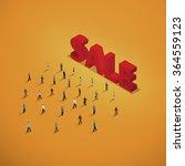 people walking to words sale....   Shutterstock .eps vector #364559123