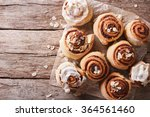 cinnamon rolls with almond on... | Shutterstock . vector #364561460