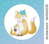 vector illustration of a cute... | Shutterstock .eps vector #364563230