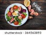 healthy shrimp and arugula...   Shutterstock . vector #364563893