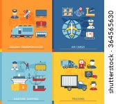 logistic concept set with icons ... | Shutterstock .eps vector #364565630
