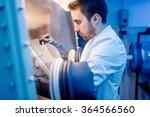 scientist using protective... | Shutterstock . vector #364566560