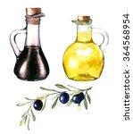 hand drawn watercolor... | Shutterstock . vector #364568954