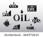 logo oil  industry set...   Shutterstock .eps vector #364572614
