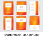set of brochures in rectangle... | Shutterstock .eps vector #364584080