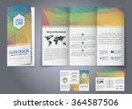 design tri fold flyers ... | Shutterstock .eps vector #364587506