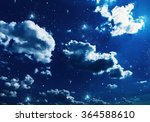 night sky with stars and full... | Shutterstock . vector #364588610