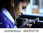 silhouette edge asian girl... | Shutterstock . vector #364593770