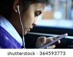 silhouette edge asian girl... | Shutterstock . vector #364593773