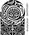 maori art pattern is isolated... | Shutterstock . vector #364595309