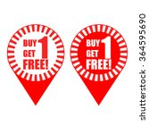 pin promotion vector   buy 1... | Shutterstock .eps vector #364595690
