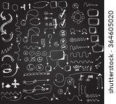 hand drawn arrow vector... | Shutterstock .eps vector #364605020