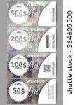 set of modern gift voucher...   Shutterstock .eps vector #364605500