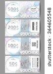 set of modern gift voucher... | Shutterstock .eps vector #364605548
