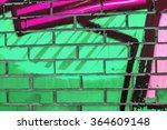 beautiful street art graffiti.... | Shutterstock . vector #364609148