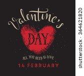valentine's day illustration | Shutterstock .eps vector #364621820