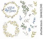 wild flowers elements for... | Shutterstock .eps vector #364631240