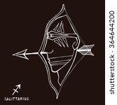 sagittarius. zodiac sign  hand... | Shutterstock .eps vector #364644200