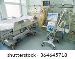 Small photo of Post surgery clinic for patients, with medical beds, respiratory support and life support systems are seen neurology clinic in the Emergency hospital Pirogov, Sofia, Bulgaria, December 14, 2015.