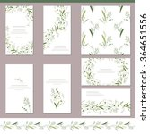 floral spring templates with... | Shutterstock .eps vector #364651556