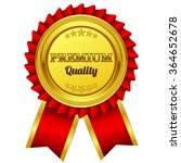premium quality red seal  label ... | Shutterstock .eps vector #364652678