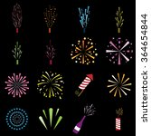 firework icons color | Shutterstock .eps vector #364654844