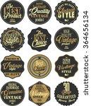 premium quality retro badges... | Shutterstock .eps vector #364656134
