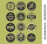premium quality retro badges... | Shutterstock .eps vector #364656164