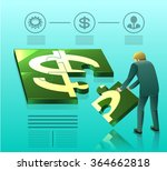 businessman are making money.... | Shutterstock .eps vector #364662818