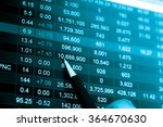 financial data on a monitor.... | Shutterstock . vector #364670630