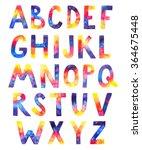 watercolor cosmic alphabet on... | Shutterstock . vector #364675448