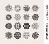 set of ornate vector mandala... | Shutterstock .eps vector #364678139