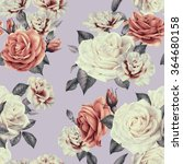 seamless floral pattern with... | Shutterstock . vector #364680158