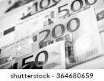 euro money  closeup of banknotes | Shutterstock . vector #364680659
