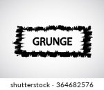 brush stroke . black paint... | Shutterstock .eps vector #364682576