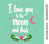 valentines day greeting card. i ... | Shutterstock .eps vector #364683428