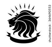 lion emblem | Shutterstock .eps vector #364690553