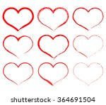 set of hearts | Shutterstock .eps vector #364691504