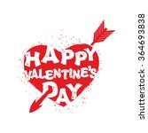 happy valentines day sign. logo ... | Shutterstock .eps vector #364693838