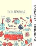 beach. vector background | Shutterstock .eps vector #364695008