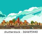 vector illustration big city...   Shutterstock .eps vector #364695440