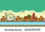 vector illustration promenade... | Shutterstock .eps vector #364695449