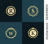 monogram design elements ... | Shutterstock .eps vector #364698854