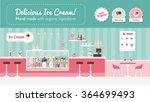 ice cream parlor banner  shop... | Shutterstock .eps vector #364699493