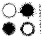 blob circle  round background.  | Shutterstock .eps vector #364699880