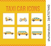 set of taxi icons. limousine... | Shutterstock .eps vector #364707440