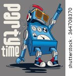 cute vintage dancer robot ... | Shutterstock .eps vector #364708370