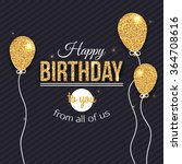 happy birthday card template.... | Shutterstock .eps vector #364708616