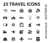 travel icons set.  | Shutterstock .eps vector #364708910